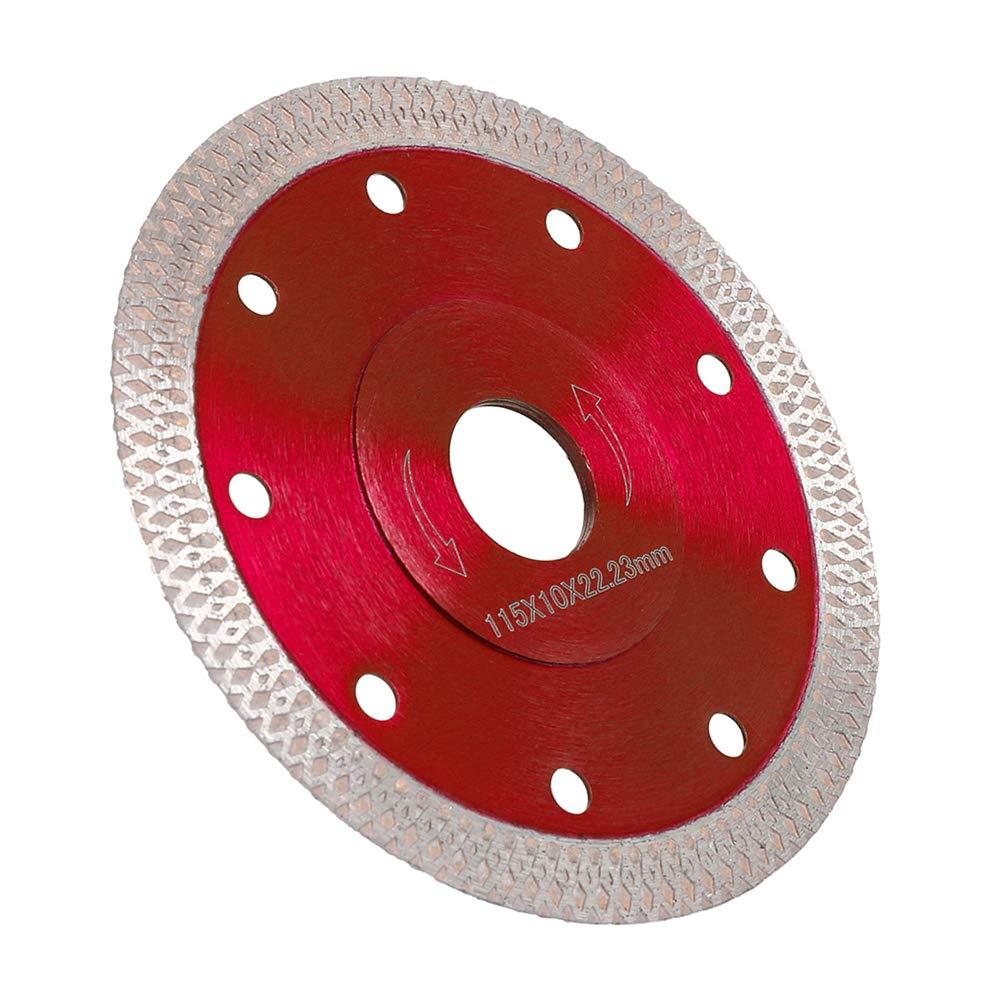 cer/ámica fino profesional cuarcita Disco diamantado de 115 mm granito m/ármol corte en seco con corte en h/úmedo para gres porcel/ánico rojo