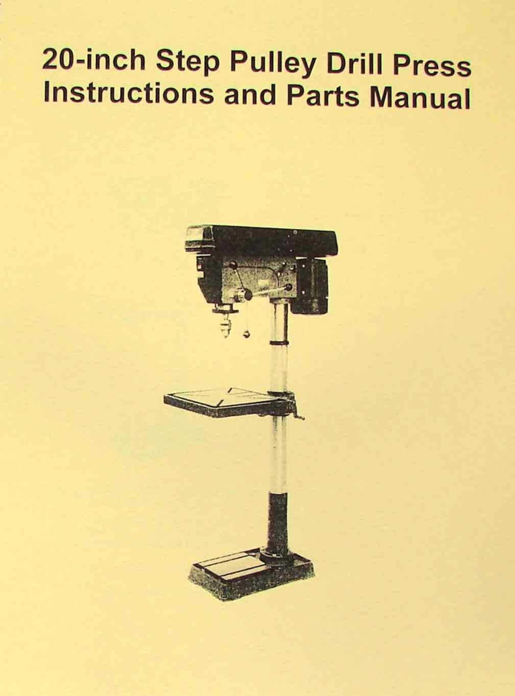 "JET-Asian JDP-20MF 20"" Step-Pulley Drill Press Operator's Parts Manual:  Misc.: Amazon.com: Books"