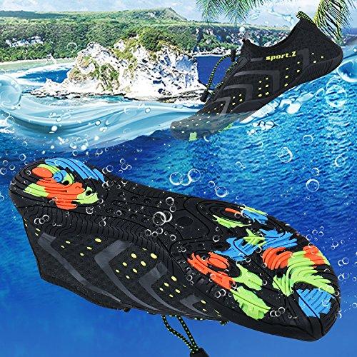 Water Aqua Skin PENGCHENG Yoga Driving Swim Women Swim Barefoot For Surf Boating Black Socks Dry Quick Lake Beach Walking Shoes Park Shoes Men Beach dqqPp8