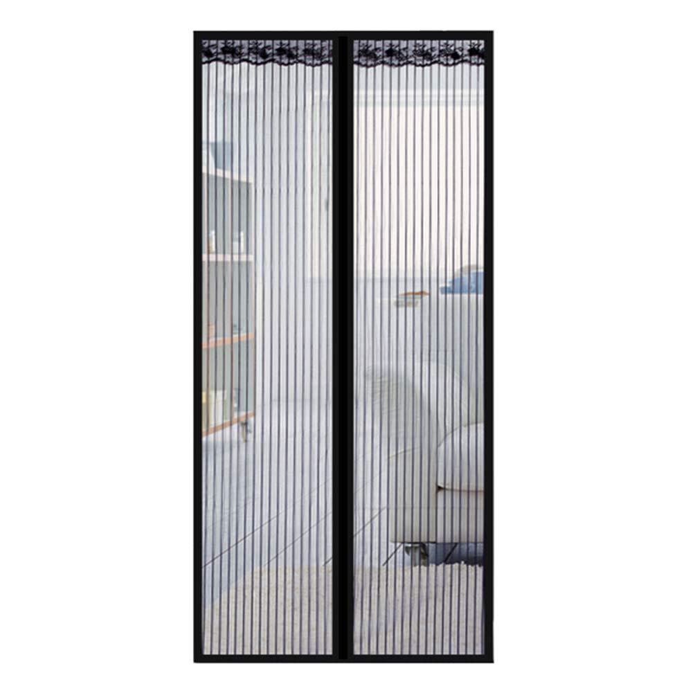 Porte Moustiquaire,MagnéTique Moustiquaire Porte Rideau Anti Mouche Velcro, Pour Portes Et Portes FenêTres – Moustiquaire MagnéTique,85x210cm
