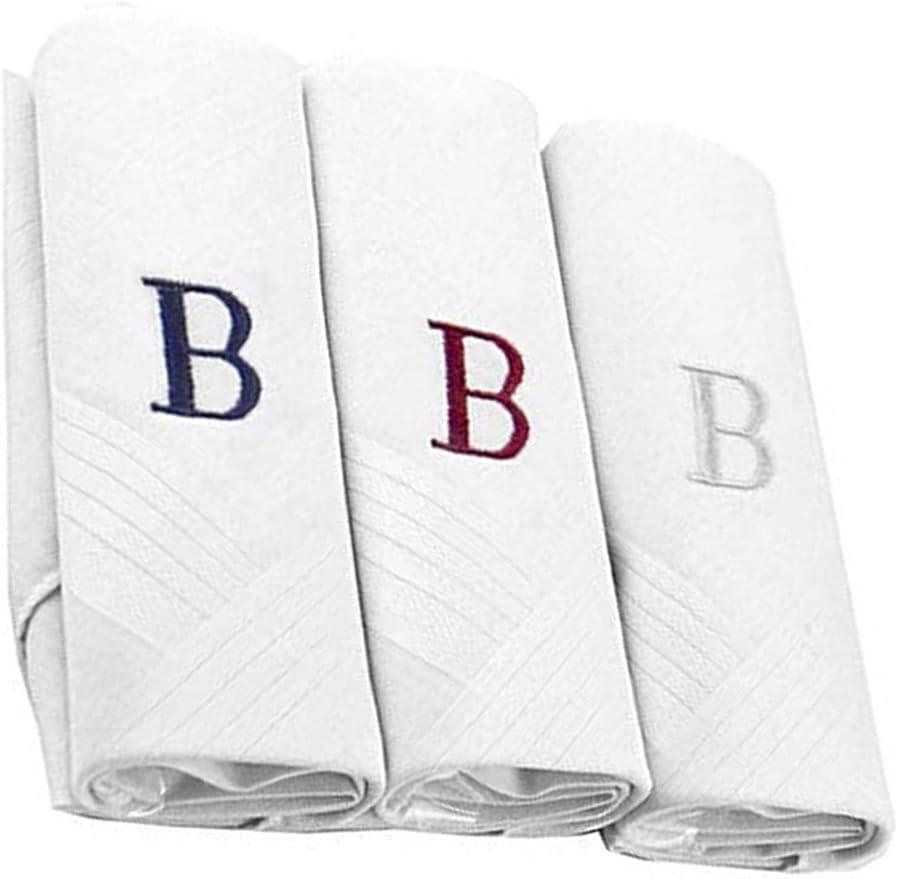 Pañuelos con letras iniciales para hombre, 100% algodón, con ...