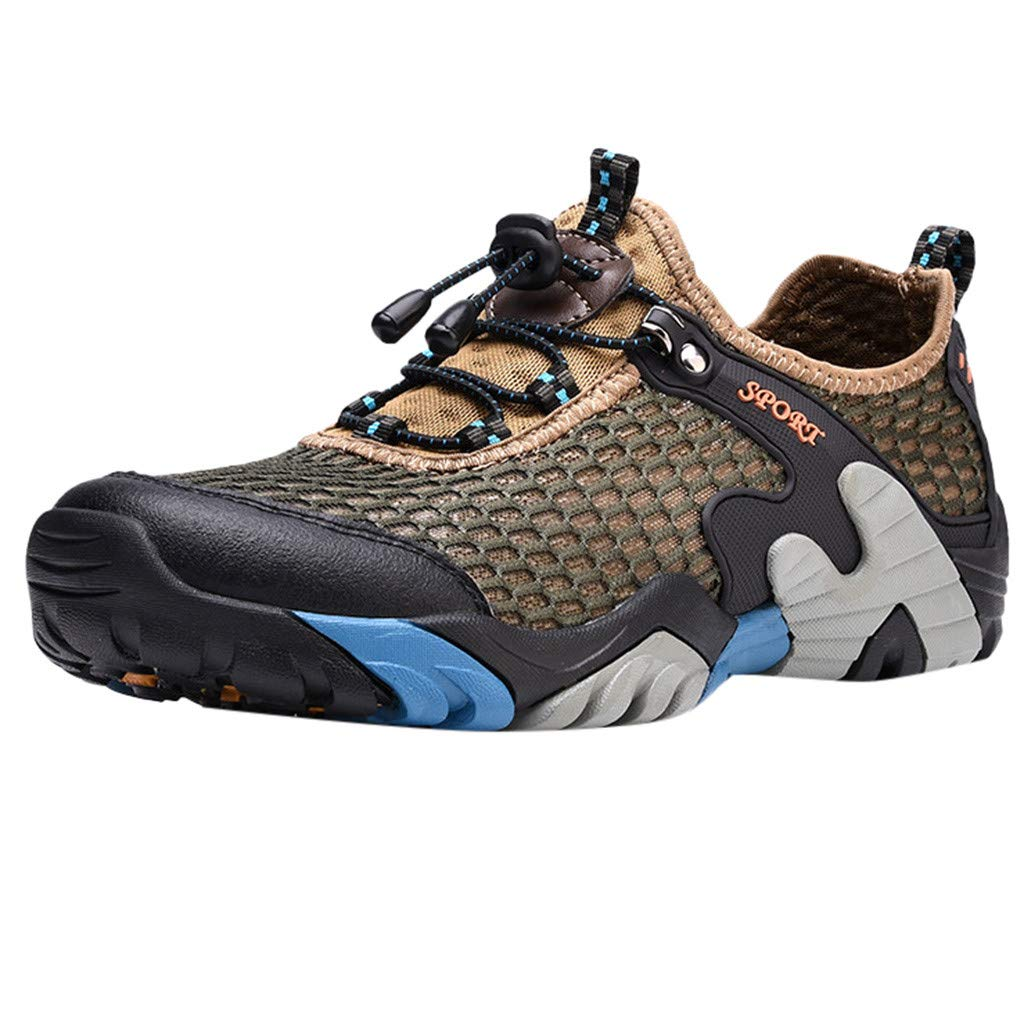 67a83931a046 Amazon.com: JJHAEVDY Men's Water Shoes Quick Dry Barefoot Aqua Swim ...