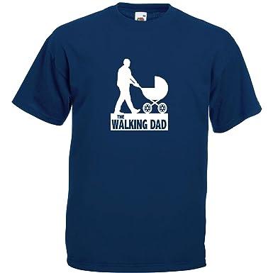 The Walking Dad Fun T-Shirt Navy Blau / Druck Weiß (S)