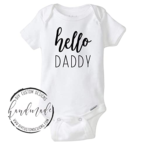 f758db499a580 Amazon.com  Hello Daddy Baby Onesie®