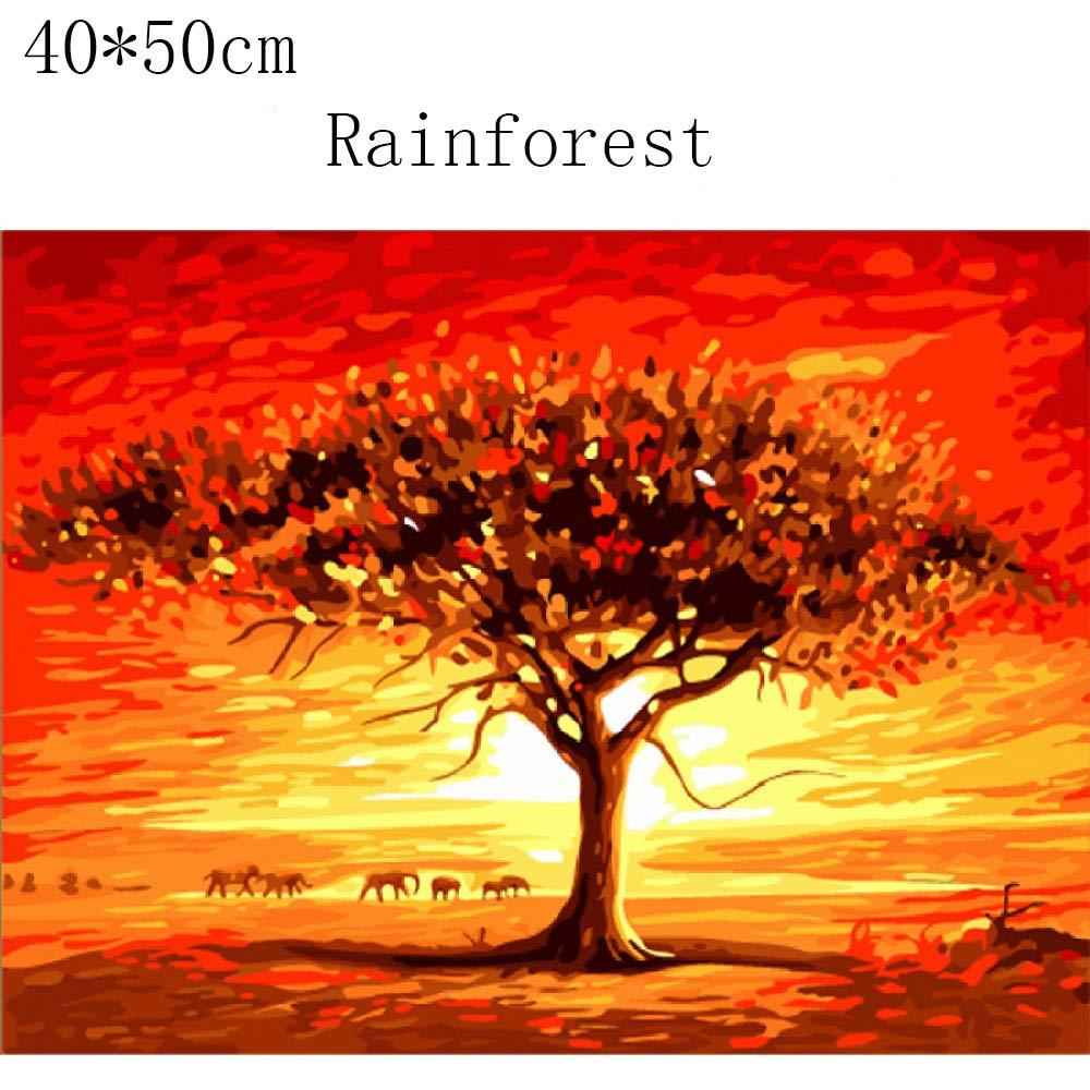 F  Sweety Tableau Decoration Murale Bricolage Coton peintes à la Main décoration Peinture numérique Peinture à l'Huile 40  50cm (Lot de 2)