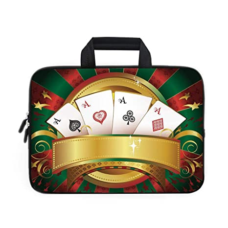 e4d0614ffeb1 Amazon.com: Poker Tournament Laptop Carrying Bag Sleeve,Neoprene ...