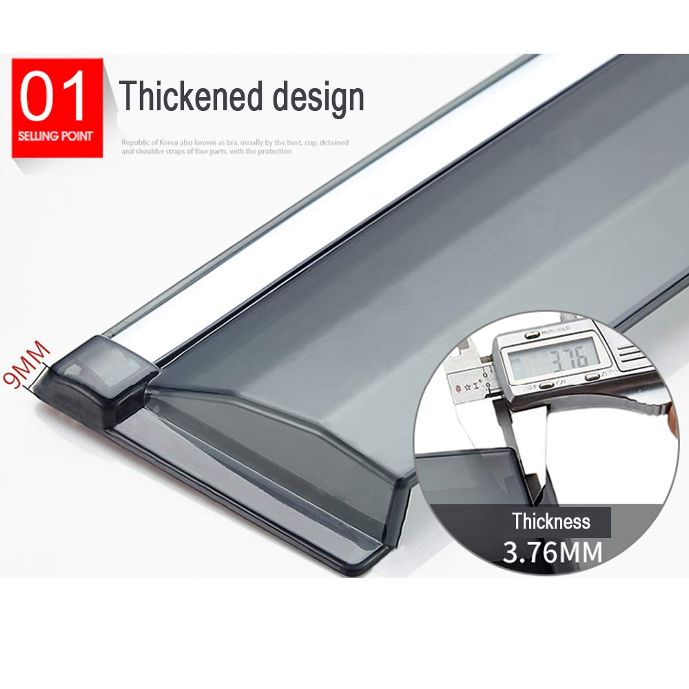 LAUTO Car shades for side windows,Car Wind Deflectors,4 Pcs Side Window Wind Deflectors /& Visors,Applicable to VW sharan