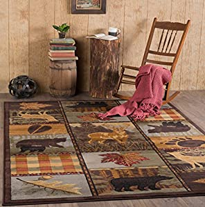 Universal Rugs Lodge Novelty 7 Ft. 10 In. X 10 Ft. 3 In. Area Rug , Multi