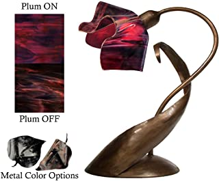 product image for Jezebel Radiance® Lazy Daisy Lamp. Hardware: Brown with Brown Highlights. Glass: Plum, Flame Style