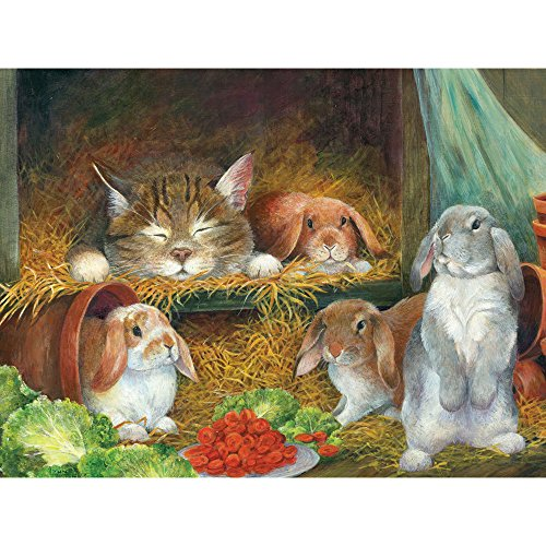 (Bits and Pieces - 300 Large Piece Jigsaw Puzzle for Adults - Bunnies - 300 Large Piece Jigsaw Puzzle by Artist Lynne)