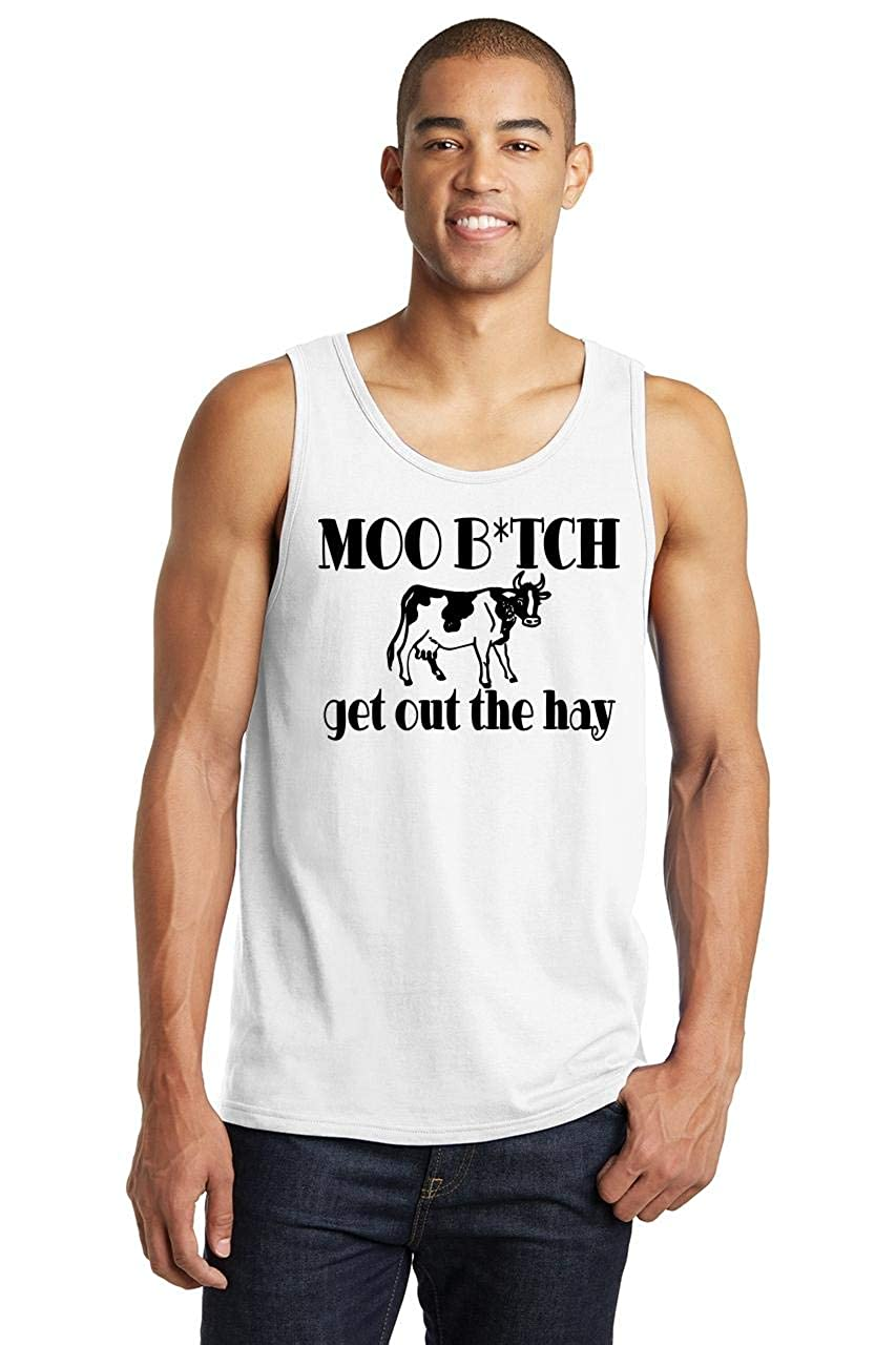 Comical Shirt Mens Move Bitch Get Out The Hay Tank Top