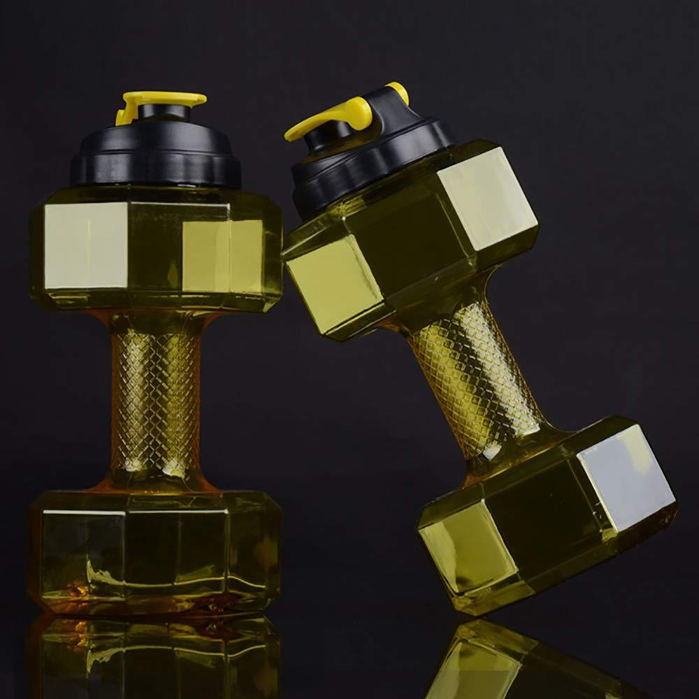 AFYH 2,2L Trinkflasche, Kreative Sportflasche - Wasserbehälter mit großer Kapazität - Hantelschale - tragbarer Fitness-Wasserkocher.