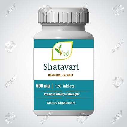 Shatavari (Asparagus Racemosus) Tabletas de 500 mg 120 cuentas - Para mayor suministro de
