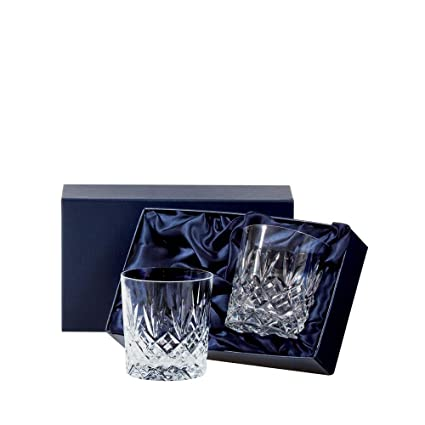 Royal Scot Crystal Edinburgh Set of 2 Crystal Large 11 oz Whisky Tumblers Glasses