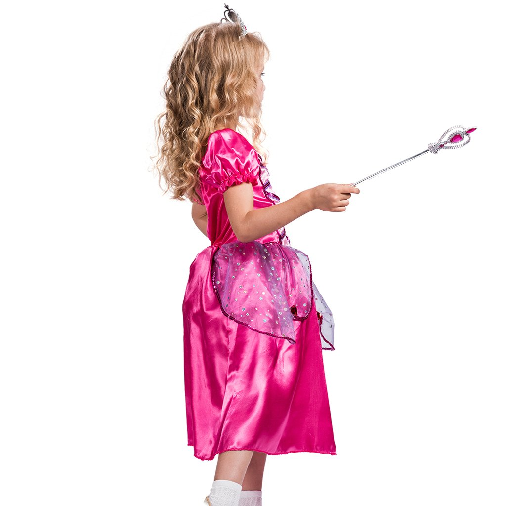 EraSpooky Childs Bubble Sleeve Princess Costumes Party Dress