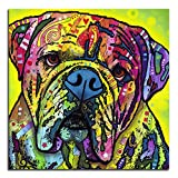 Colorful Bulldog Metal Wall Art 16