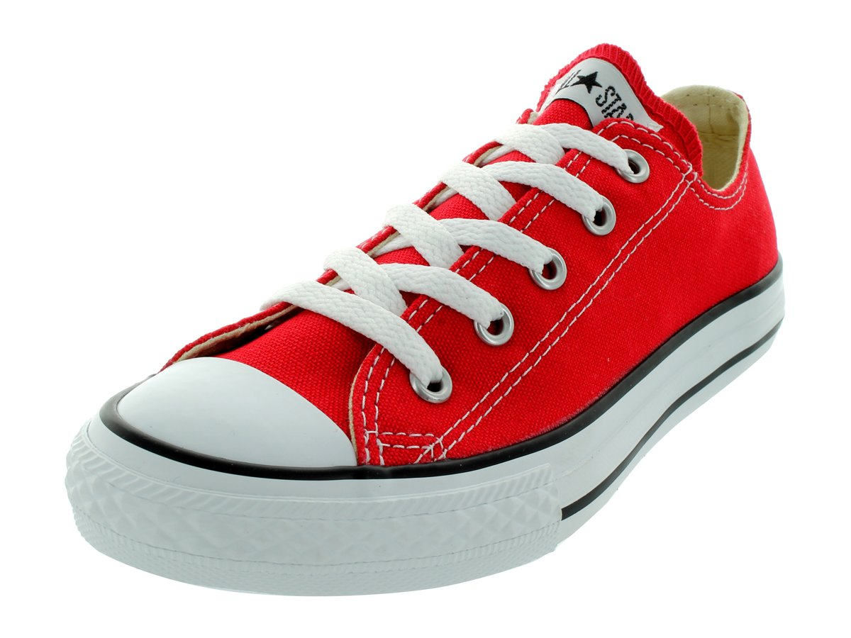 CONVERSE YOUTH CHUCK TAYLOR ALL STAR OX BASKETBALL SHOES 10.5 Kids US (RED)
