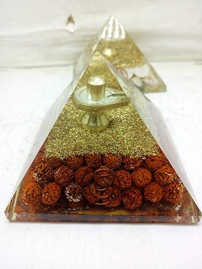 Buy White Aura Vastu Store Orgonite Crystal Panchmukhi Rudraksh Urja