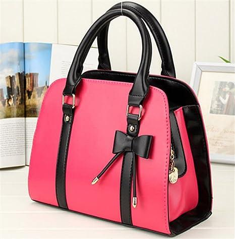 1414e3f0c7 Whobabe Tote bag per le donne in pelle PU Hobo messenger borsa a tracolla  con fiocco