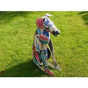 Metal jardín perro Escultura adorno de jardín