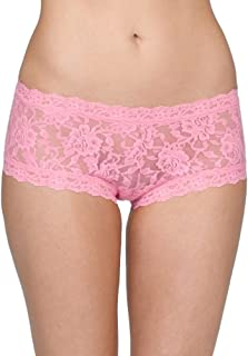 product image for Hanky Panky Womens Signature Lace Boyshort in Glo Pink Size Medium