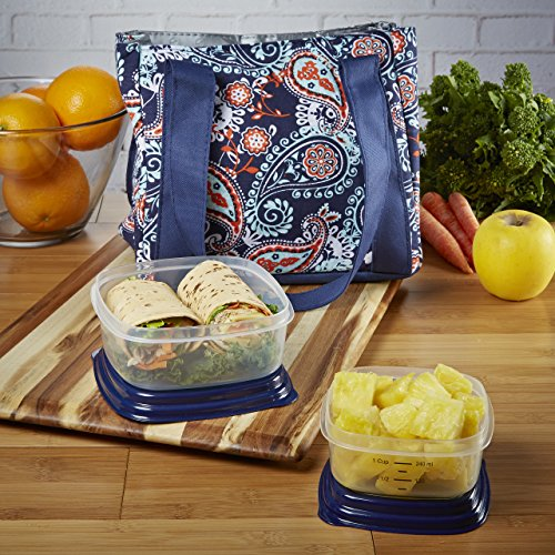 fit-fresh-venice-lunch-bag-kit-with-reusable-container-set-and-ice-pack-navy-orange-paisley