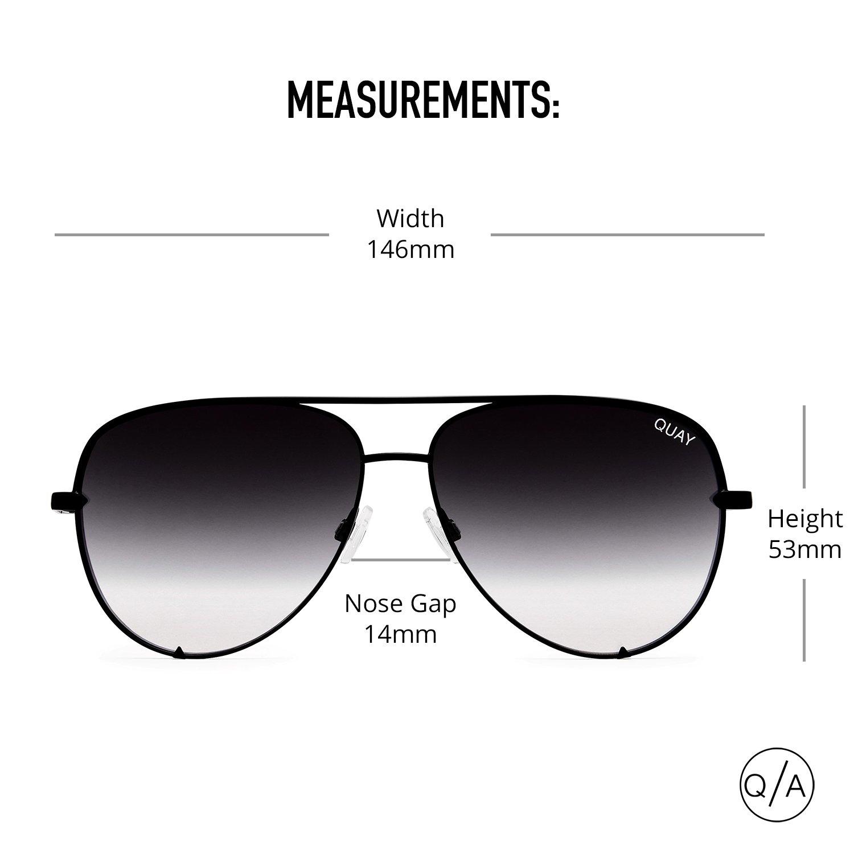 Quay Australia HIGH KEY MINI Men's and Women's Sunglasses Aviator Sunnies - Black/Fade by Quay Australia (Image #5)
