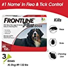 Frontline Plus for Dogs Extra Large Dog (89 to 132 pounds) Flea and Tick Treatment, 3 Doses