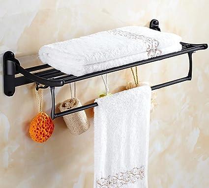 GuoEY Estanterías de acero inoxidable baño unión puerta plegable Antique-Towels radiador toallero, Hair