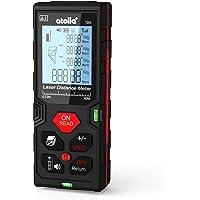 ATOLLA Telémetro Láser 60m Medidor Láser de Distancia Pantalla Retroiluminada LCD con Función de Almacenamiento de Datos M / In / Ft, Puede medir pitagórico, área y volumen, Alta Precisión ±2 mm, Protección IP54