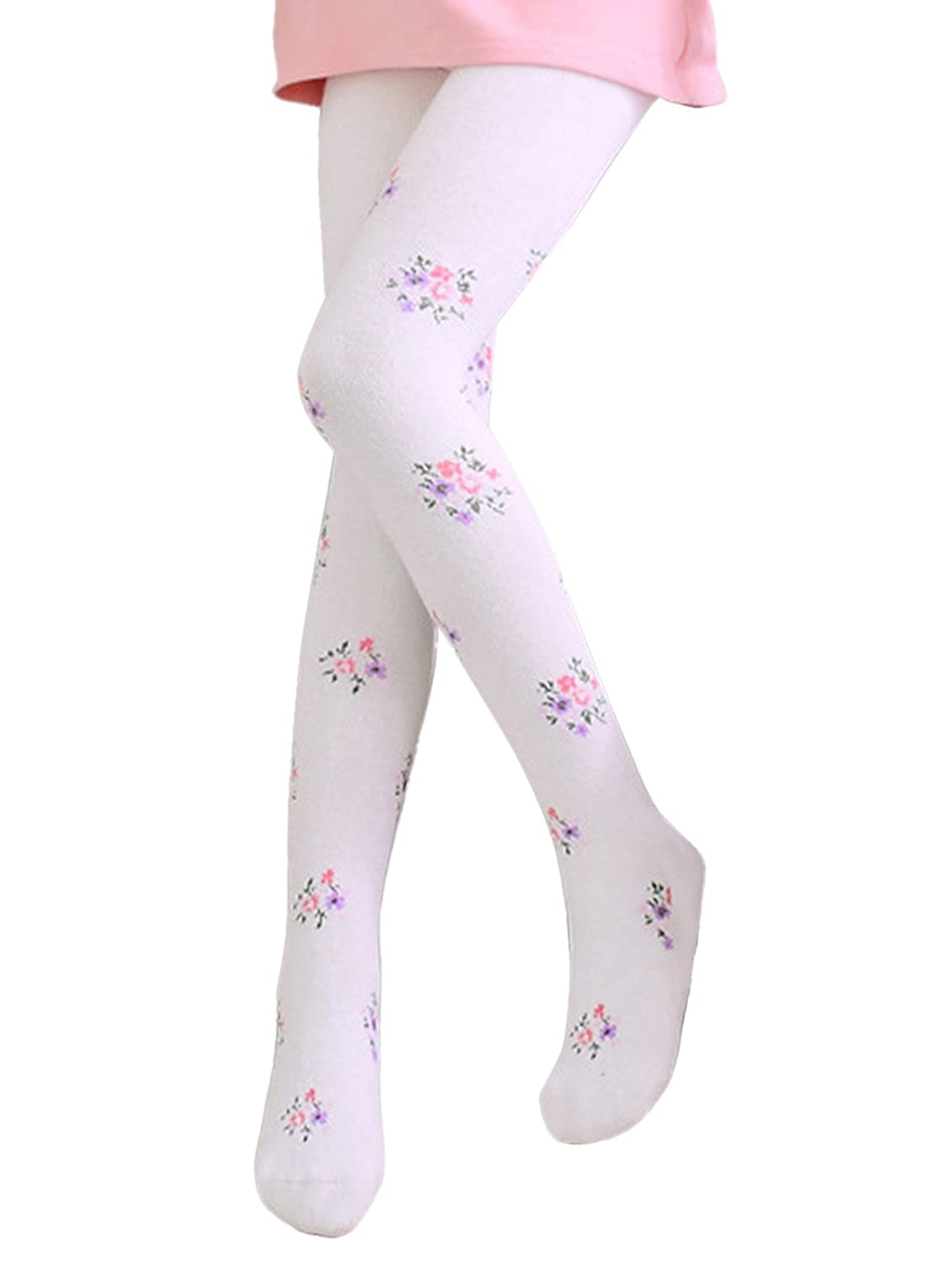 Happy Cherry Girls Cotton Floral Legging Pants Tights Long Stockings