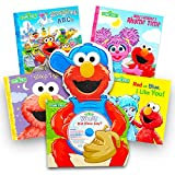 Sesame Street Elmo Book Super Set For Toddlers -- 5 Book Set (Deluxe Elmo Board Book with CD and 4 Storybooks)