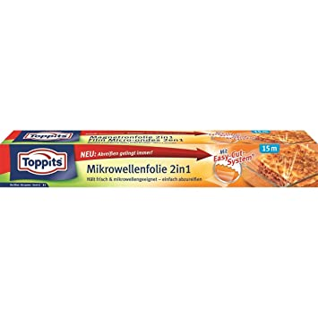 "TOPPITS Lebensmittel Mikrowellenfolie /""15m x 29.5cm/"""