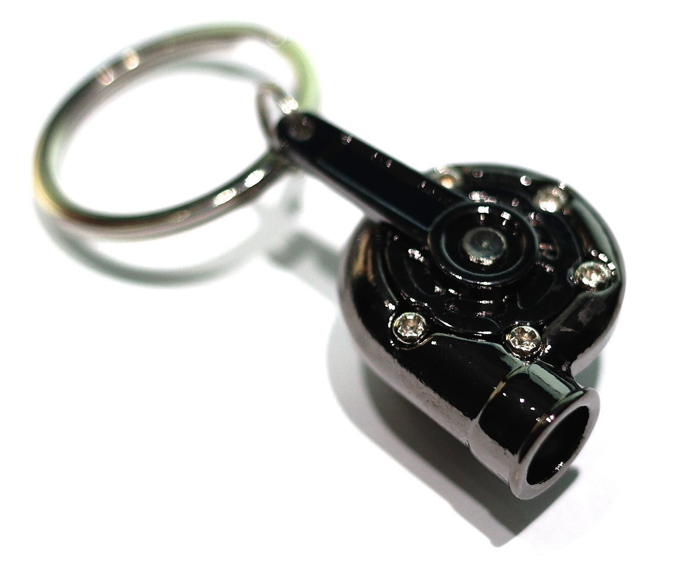 GT////Rotors Gunmetal Spinning Turbo Keychain Automotive Part Car Gift Key Chain Ring