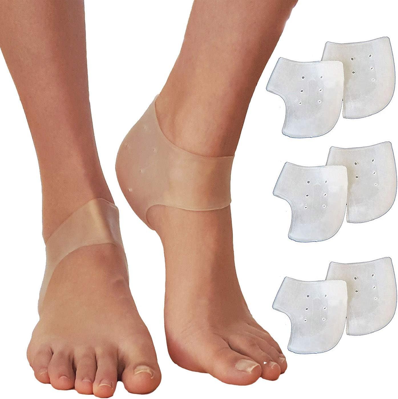 Gel Fersenschalen Plantar Fasciitis Inserts Silikon Heels Pads Insert