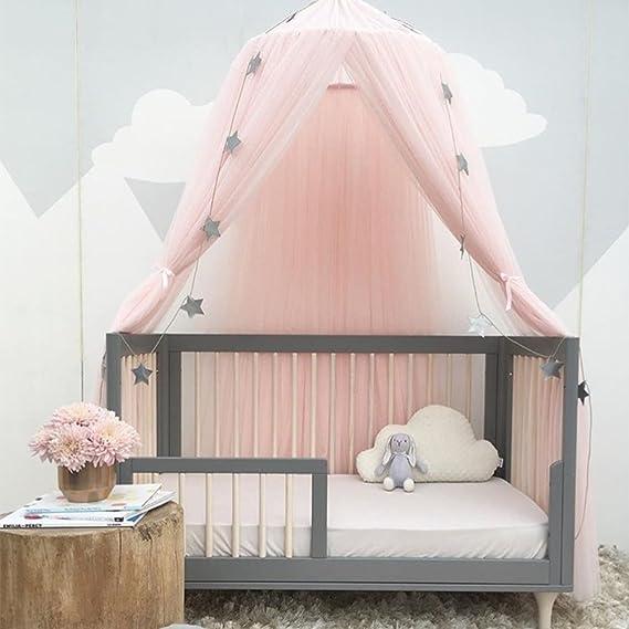 Uarter Ciel de lit Enfant Décoration de Chambre D'enfant en Forme de Dôme, Fille Garçon Maison de Jeux, Moustiquaire pour lit Enfants