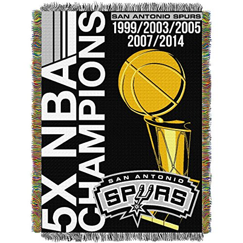 NBA San Antonio Spurs Commemorative Woven Tapestry Throw, 48