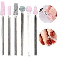Broca eléctrica para uñas 5 Tipos 6 unids/Pack Acero Inoxidable Nail Art Broca Kit Nail Drill Accesorios Manicura, alisando Herramientas de uñas, uñas Suaves(JG#5)