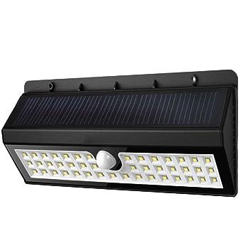 Lamparas Solares, NovaMass 44 LED Foco Solar Waterproof con Sensor de Movimiento, Luz Solar