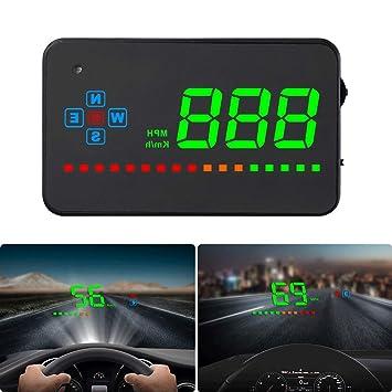 iKiKin Pantalla Superior de GPS para automóvil, proyector LED de Parabrisas, película de reflexión