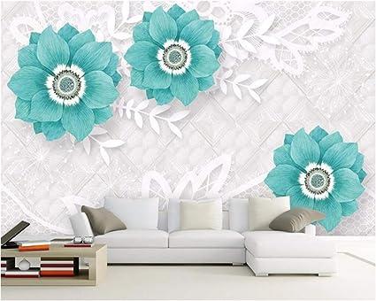 6f2f18a468c Weaeo Fondo De Pantalla Personalizado Fresco Y Elegante Suave Flor  Tridimensional Sofá Tv Fondo Murales De