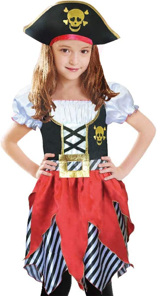 Role Play World Book Da Girls Pirate Costume 3pc Set Age 2-4yrs Ideal Dress Up