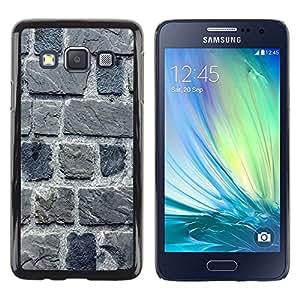 Paccase / Dura PC Caso Funda Carcasa de Protección para - Stone Wall Gray House Building Macro - Samsung Galaxy A3 SM-A300