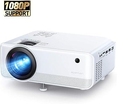 APEMAN - Proyector portátil de 4500 lúmenes, Full HD 1080P, 2 ...