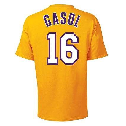 Majestic Los Angeles Lakers PAU Gasol Nombre y número ...