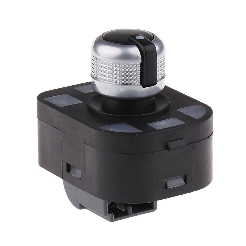 Shiwaki Bot/ón De Interruptor De Ajuste De Espejo Cromado Con Plegado Para AUDI A3 A6 Quattro S6 Q7 S8