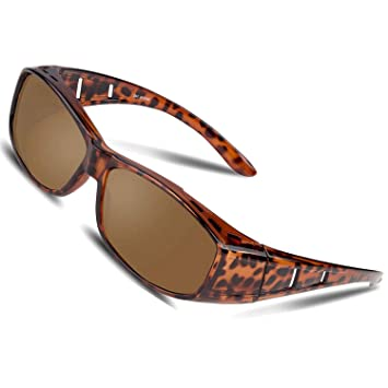 Over Glasses Sunglasses Polarized for Men Women Sunglasses Wear Over fit  Over Prescription Glasses UV400 Outdoor Sports Driving Sunglasses  (Leopard) 2767150936