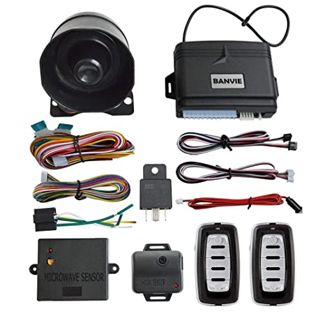 Amazon.com: BANVIE Car Security Alarm System with Microwave ...