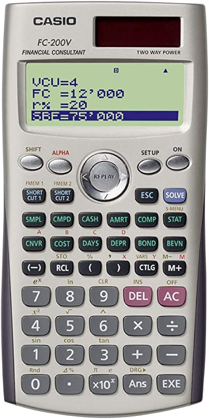comprar Casio FC-200V - Calculadora financiera, 12.2 x 80 x 161 mm, gris
