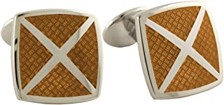 product image for David Donahue Sterling Silver 4 Cavity Cufflinks